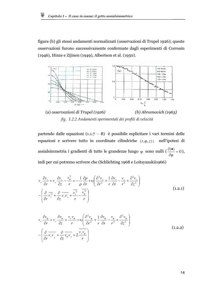 Anteprima della tesi: Studio sperimentale del campo di velocità in uscita da un getto turbolento, Pagina 6