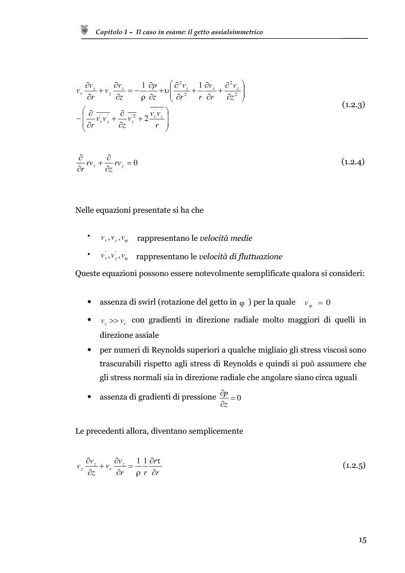 Anteprima della tesi: Studio sperimentale del campo di velocità in uscita da un getto turbolento, Pagina 7