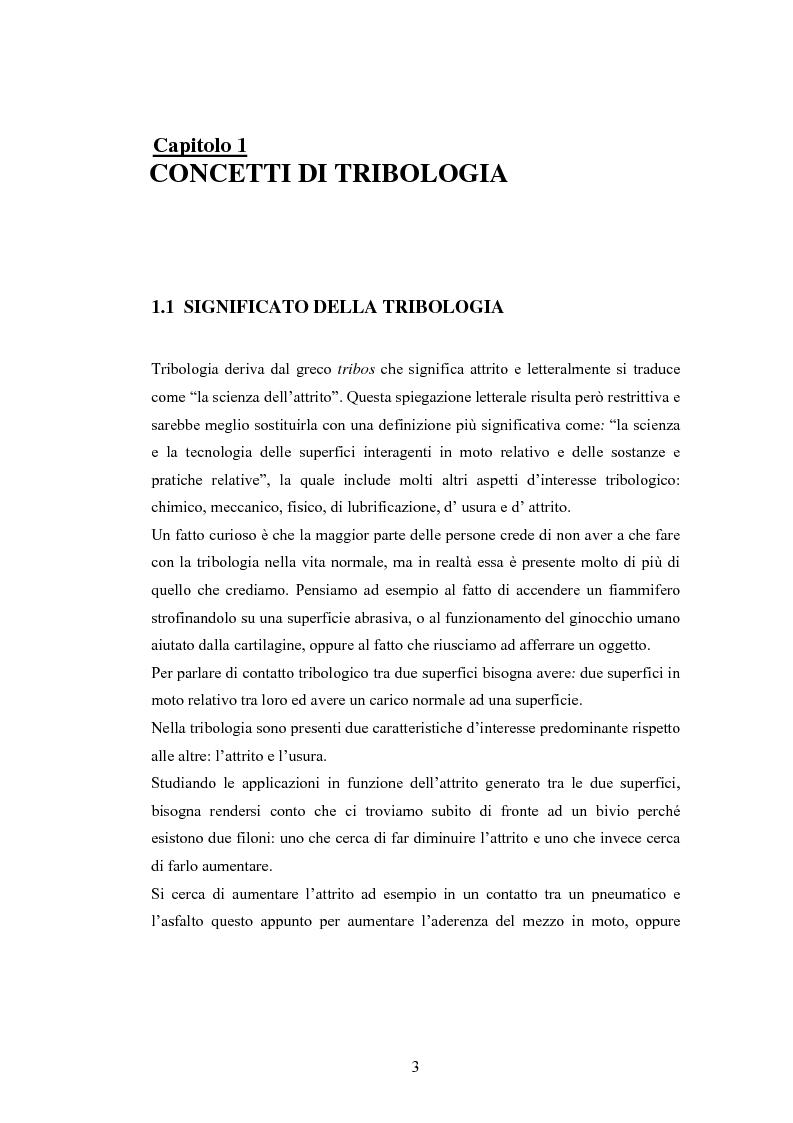 Anteprima della tesi: Problematiche nella caratterizzazione tribologica delle superfici funzionanti di contatto in una sospensione motociclistica, Pagina 2