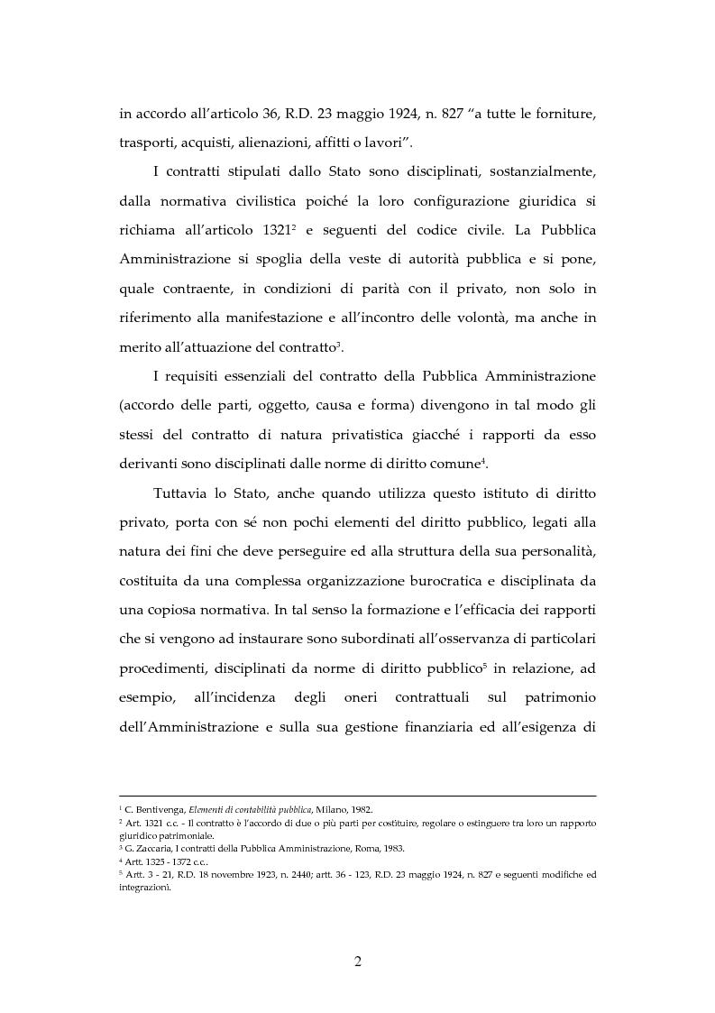 Anteprima della tesi: L'attività contrattuale per l'approvvigionamento di beni e servizi nell'amministrazione militare alla luce del nuovo codice dei contratti pubblici (D. Lgs. 163/2006), Pagina 2
