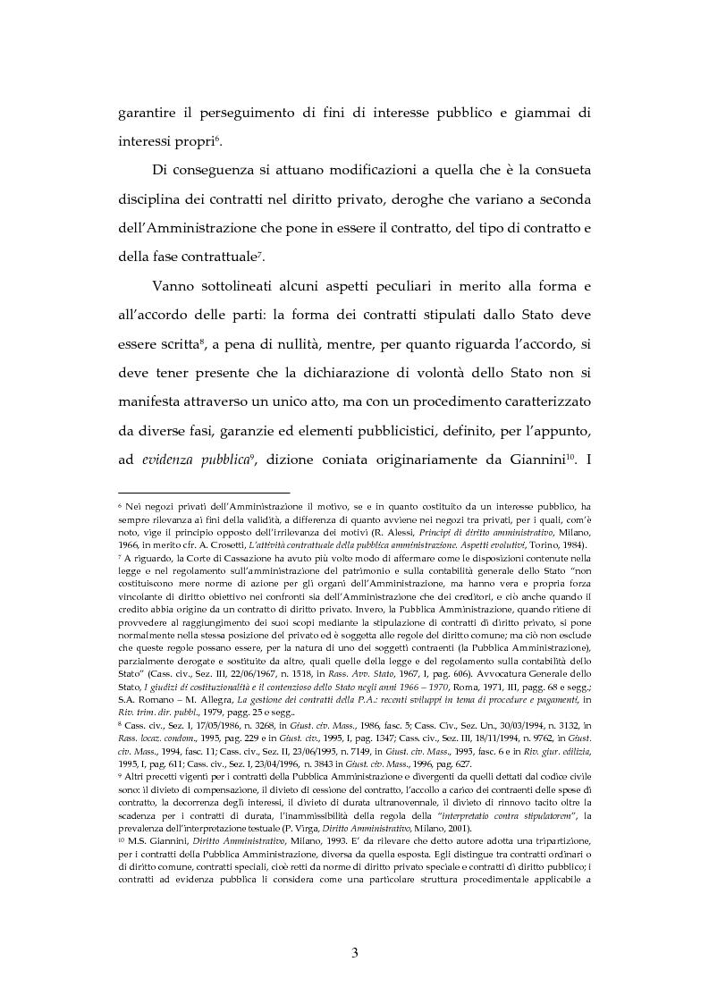 Anteprima della tesi: L'attività contrattuale per l'approvvigionamento di beni e servizi nell'amministrazione militare alla luce del nuovo codice dei contratti pubblici (D. Lgs. 163/2006), Pagina 3