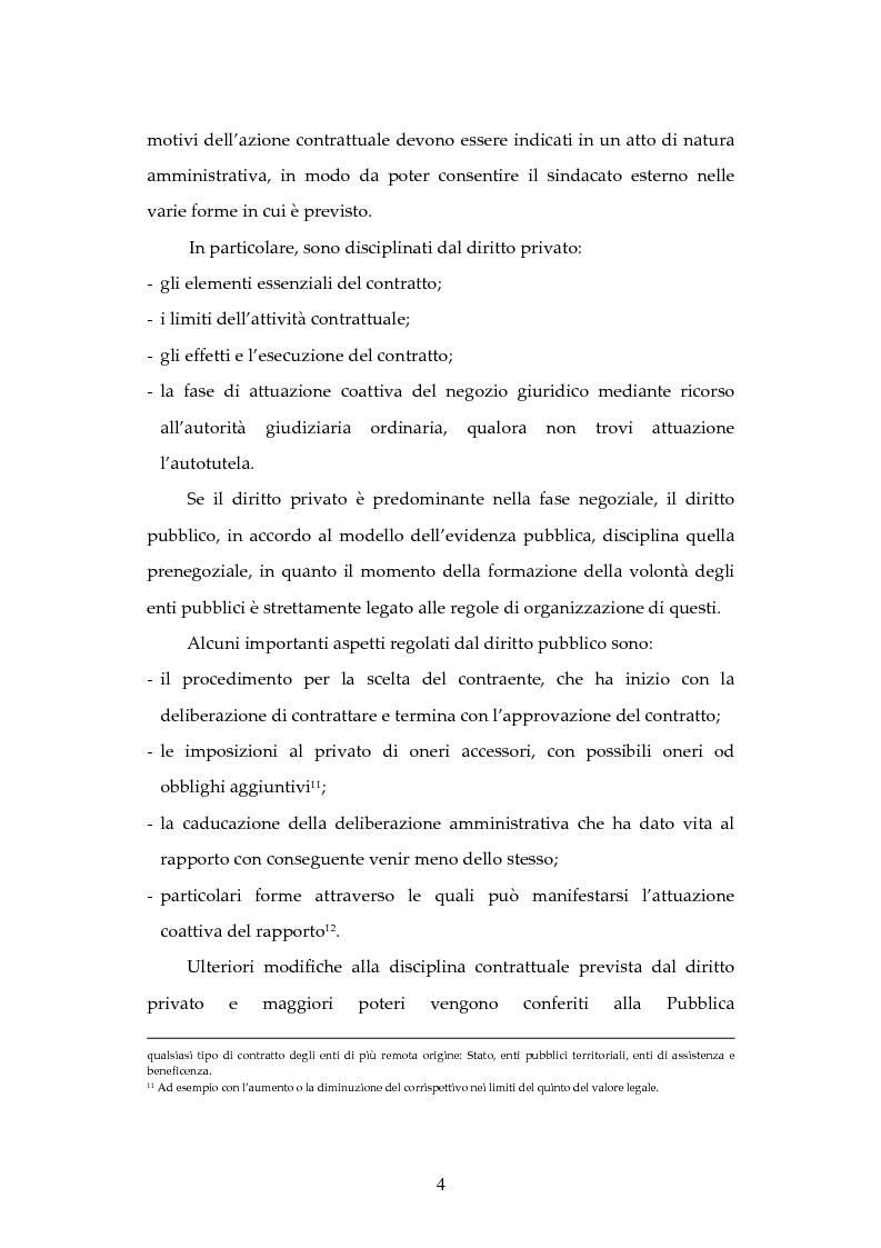 Anteprima della tesi: L'attività contrattuale per l'approvvigionamento di beni e servizi nell'amministrazione militare alla luce del nuovo codice dei contratti pubblici (D. Lgs. 163/2006), Pagina 4