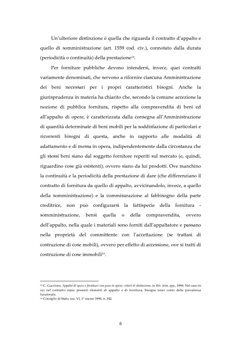 Anteprima della tesi: L'attività contrattuale per l'approvvigionamento di beni e servizi nell'amministrazione militare alla luce del nuovo codice dei contratti pubblici (D. Lgs. 163/2006), Pagina 6