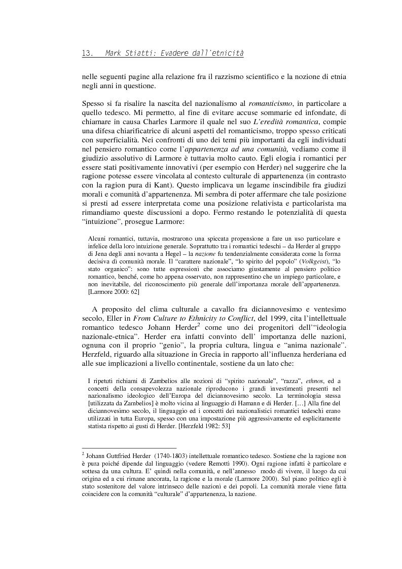 Anteprima della tesi: Evadere dall'Etnicità. Analisi e critica di una categoria dell'antropologia., Pagina 13