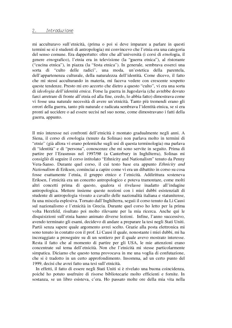 Anteprima della tesi: Evadere dall'Etnicità. Analisi e critica di una categoria dell'antropologia., Pagina 2