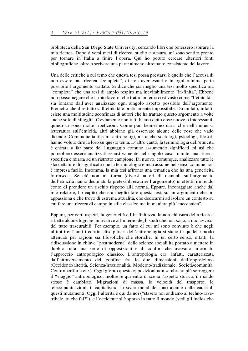 Anteprima della tesi: Evadere dall'Etnicità. Analisi e critica di una categoria dell'antropologia., Pagina 3
