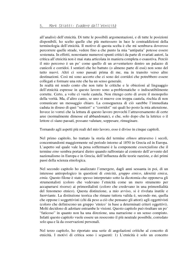 Anteprima della tesi: Evadere dall'Etnicità. Analisi e critica di una categoria dell'antropologia., Pagina 5