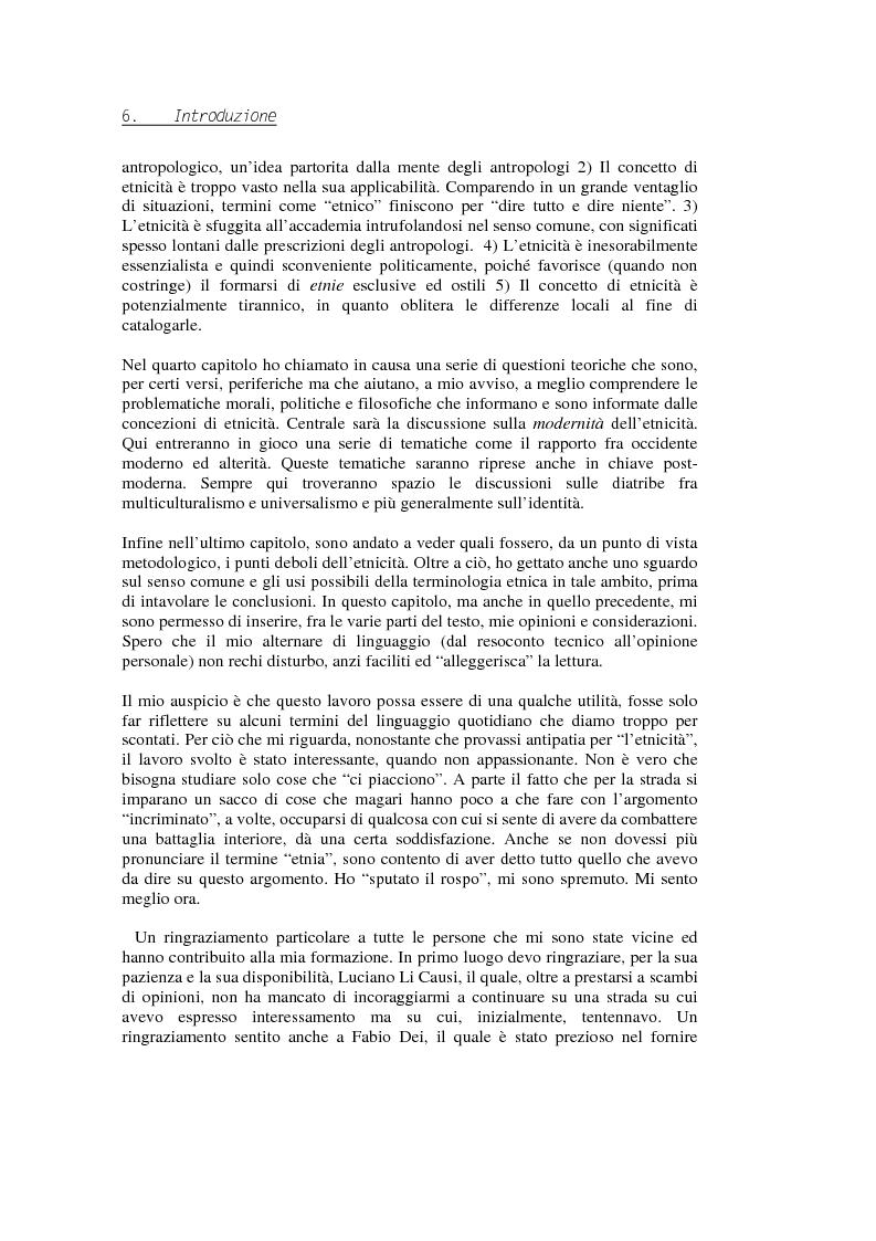 Anteprima della tesi: Evadere dall'Etnicità. Analisi e critica di una categoria dell'antropologia., Pagina 6
