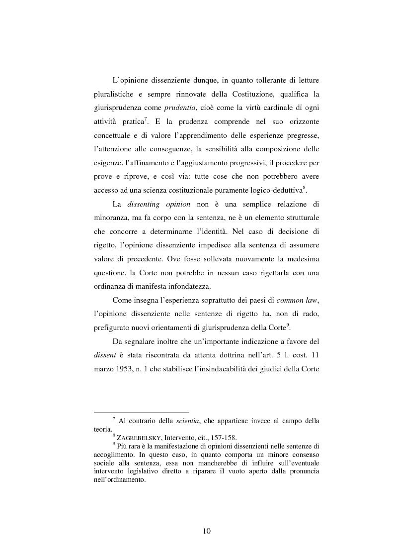 Anteprima della tesi: Dissenso e processo penale con giuria. Il ruolo del giudice dissenziente nel sistema processuale interno e di common law, Pagina 10