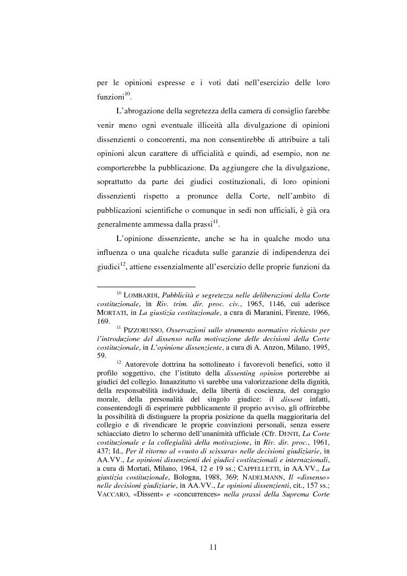 Anteprima della tesi: Dissenso e processo penale con giuria. Il ruolo del giudice dissenziente nel sistema processuale interno e di common law, Pagina 11