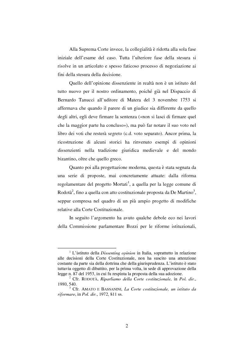 Anteprima della tesi: Dissenso e processo penale con giuria. Il ruolo del giudice dissenziente nel sistema processuale interno e di common law, Pagina 2