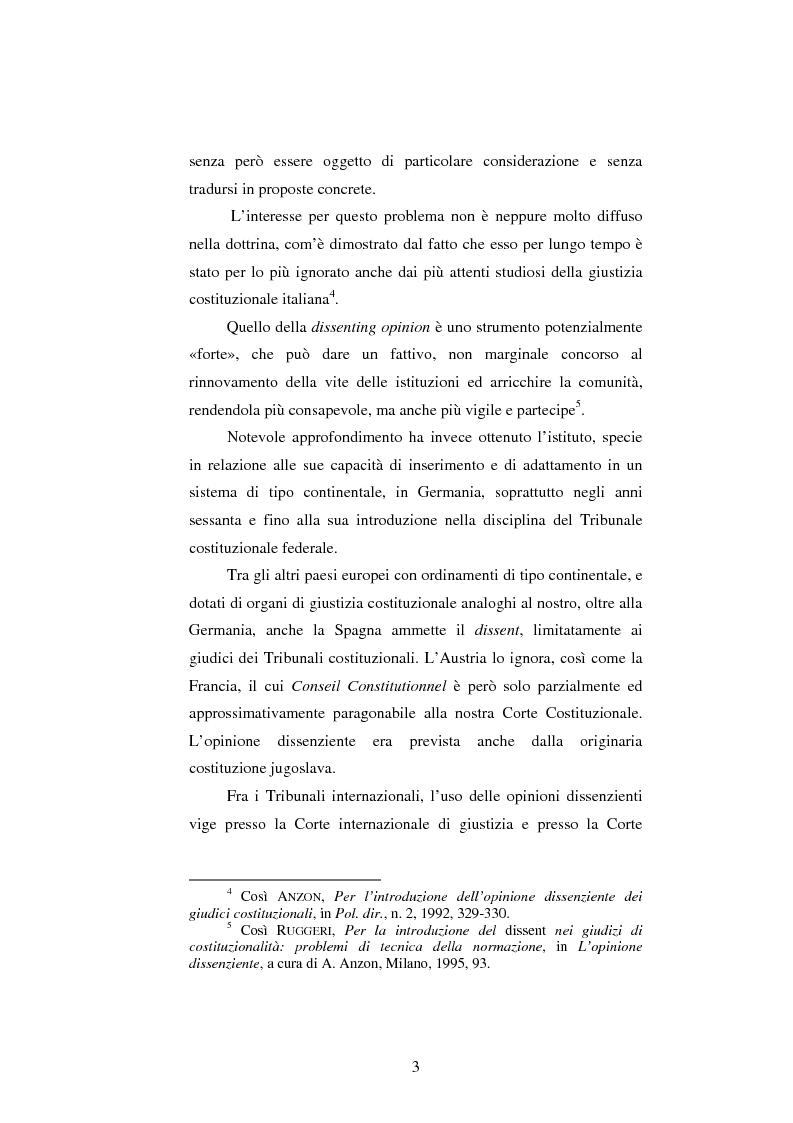 Anteprima della tesi: Dissenso e processo penale con giuria. Il ruolo del giudice dissenziente nel sistema processuale interno e di common law, Pagina 3