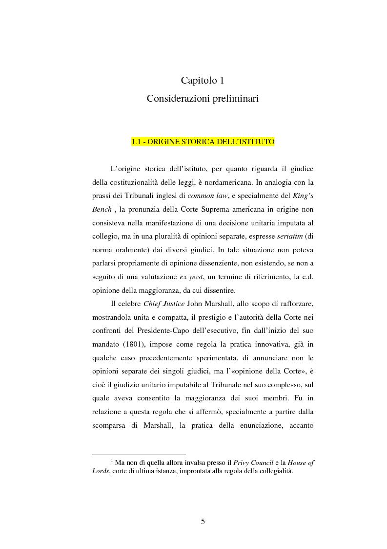 Anteprima della tesi: Dissenso e processo penale con giuria. Il ruolo del giudice dissenziente nel sistema processuale interno e di common law, Pagina 5