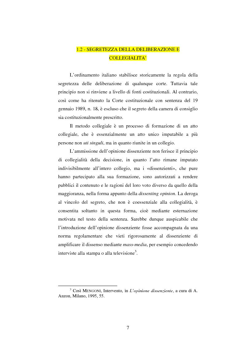 Anteprima della tesi: Dissenso e processo penale con giuria. Il ruolo del giudice dissenziente nel sistema processuale interno e di common law, Pagina 7