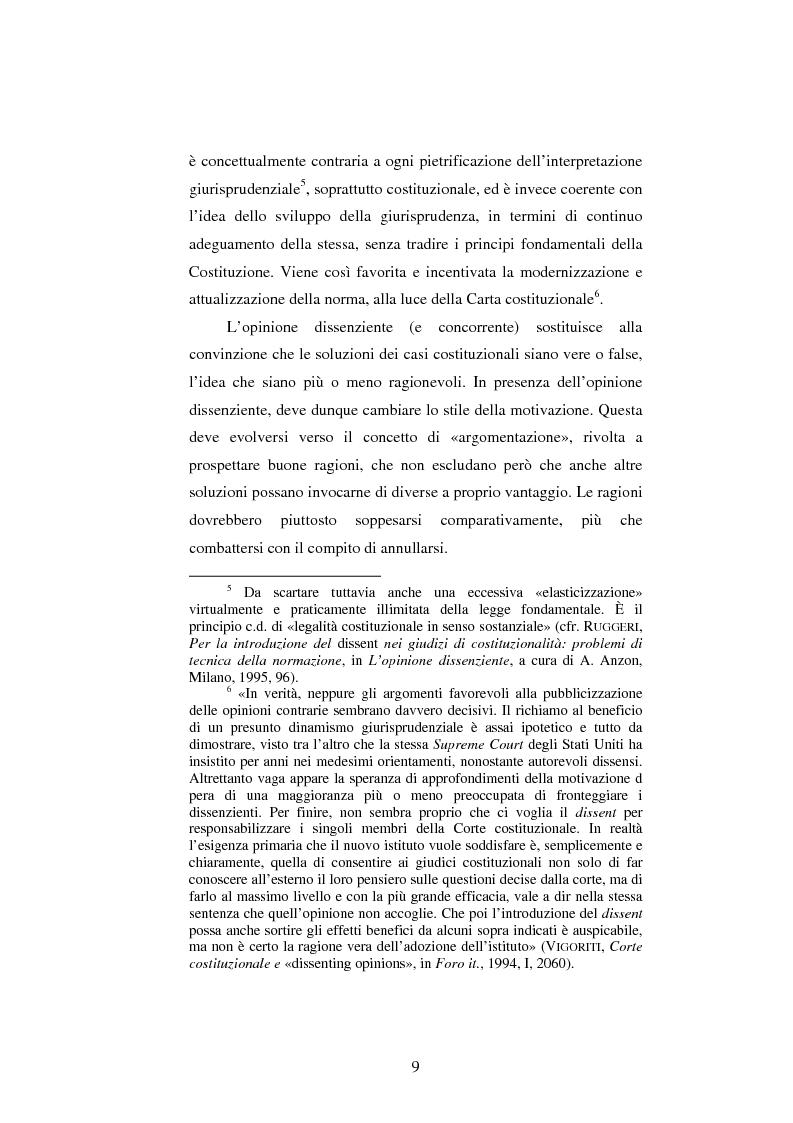 Anteprima della tesi: Dissenso e processo penale con giuria. Il ruolo del giudice dissenziente nel sistema processuale interno e di common law, Pagina 9
