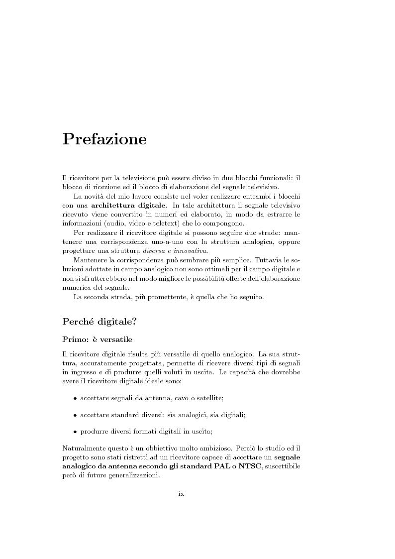 Anteprima della tesi: Ricevitore televisivo numerico., Pagina 1