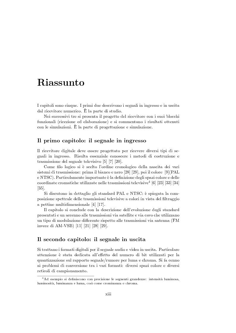 Anteprima della tesi: Ricevitore televisivo numerico., Pagina 5