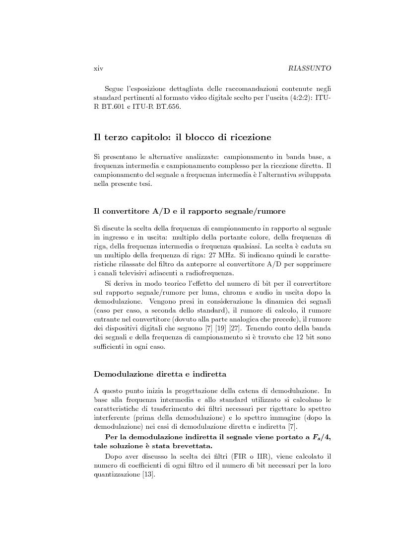 Anteprima della tesi: Ricevitore televisivo numerico., Pagina 6