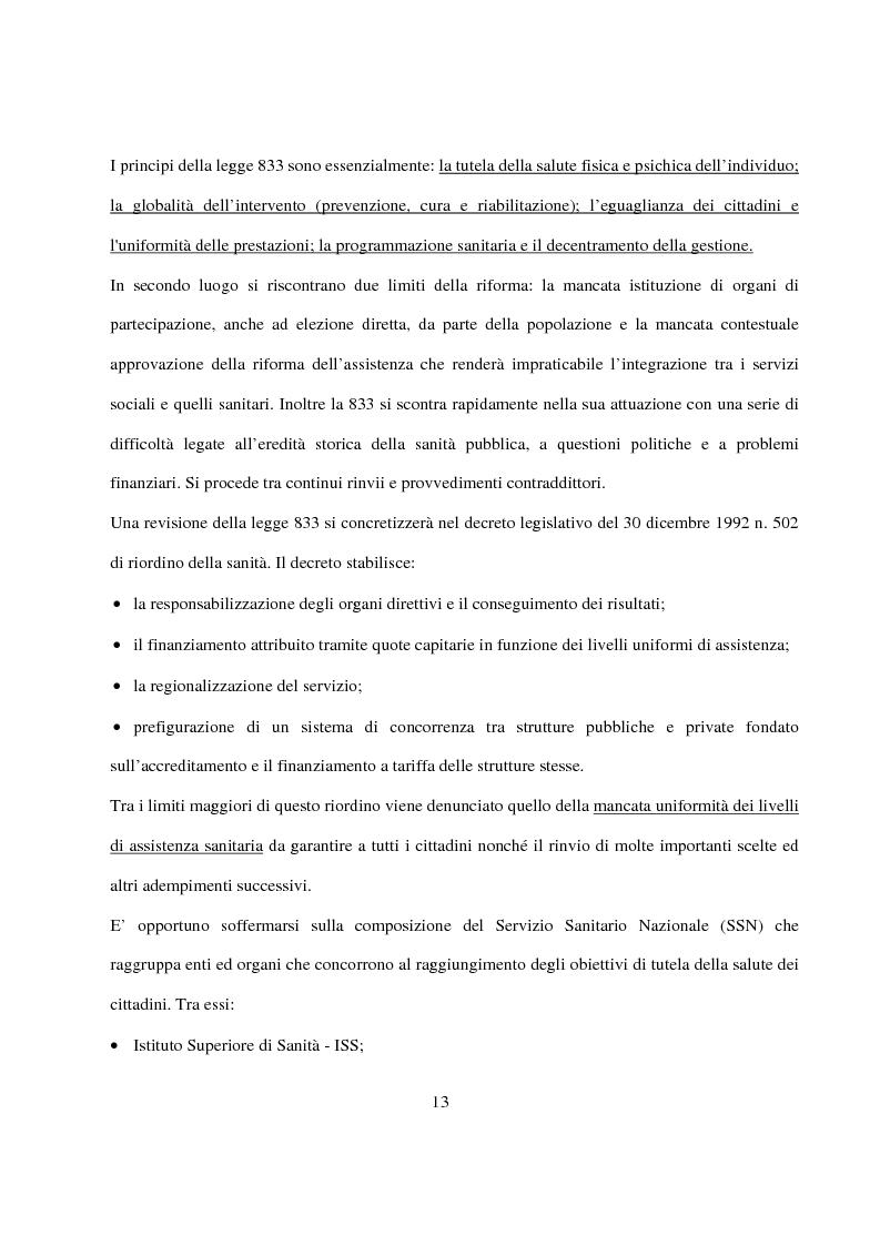Anteprima della tesi: La Pianificazione Sanitaria in Emilia Romagna: I Piani per la salute e la priorità della sicurezza stradale, Pagina 10
