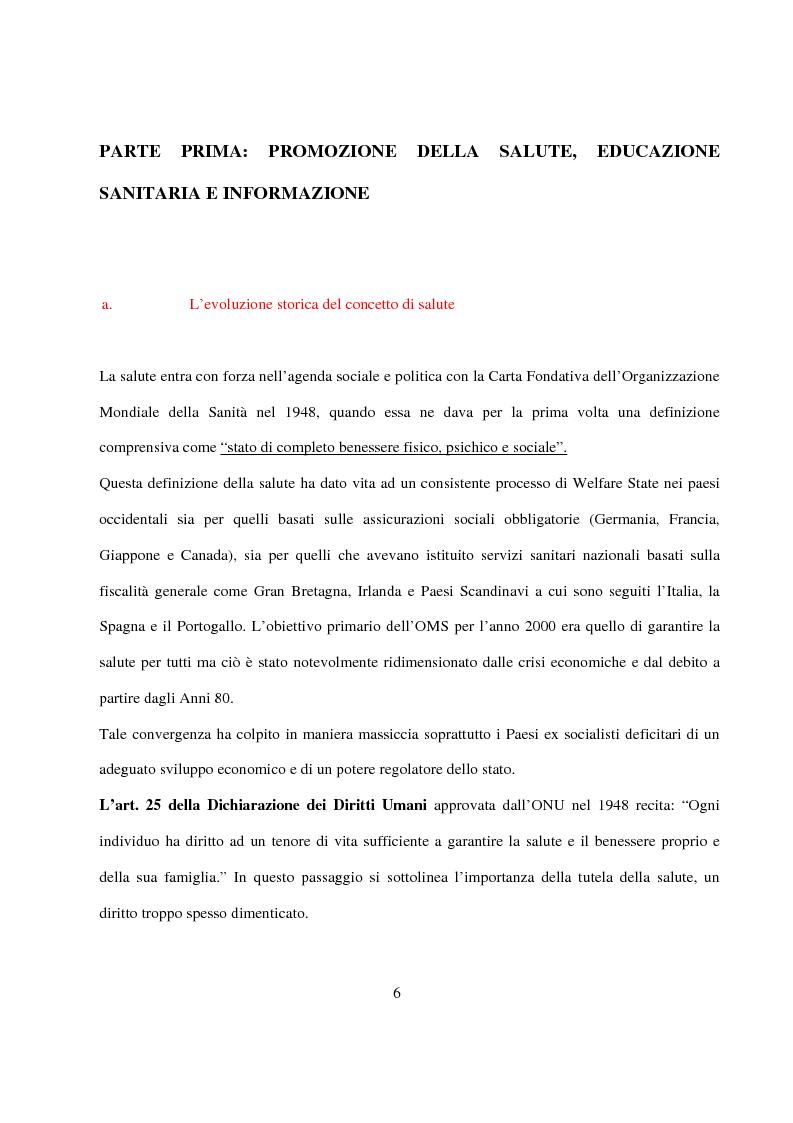 Anteprima della tesi: La Pianificazione Sanitaria in Emilia Romagna: I Piani per la salute e la priorità della sicurezza stradale, Pagina 3