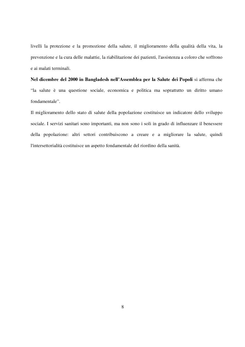 Anteprima della tesi: La Pianificazione Sanitaria in Emilia Romagna: I Piani per la salute e la priorità della sicurezza stradale, Pagina 5