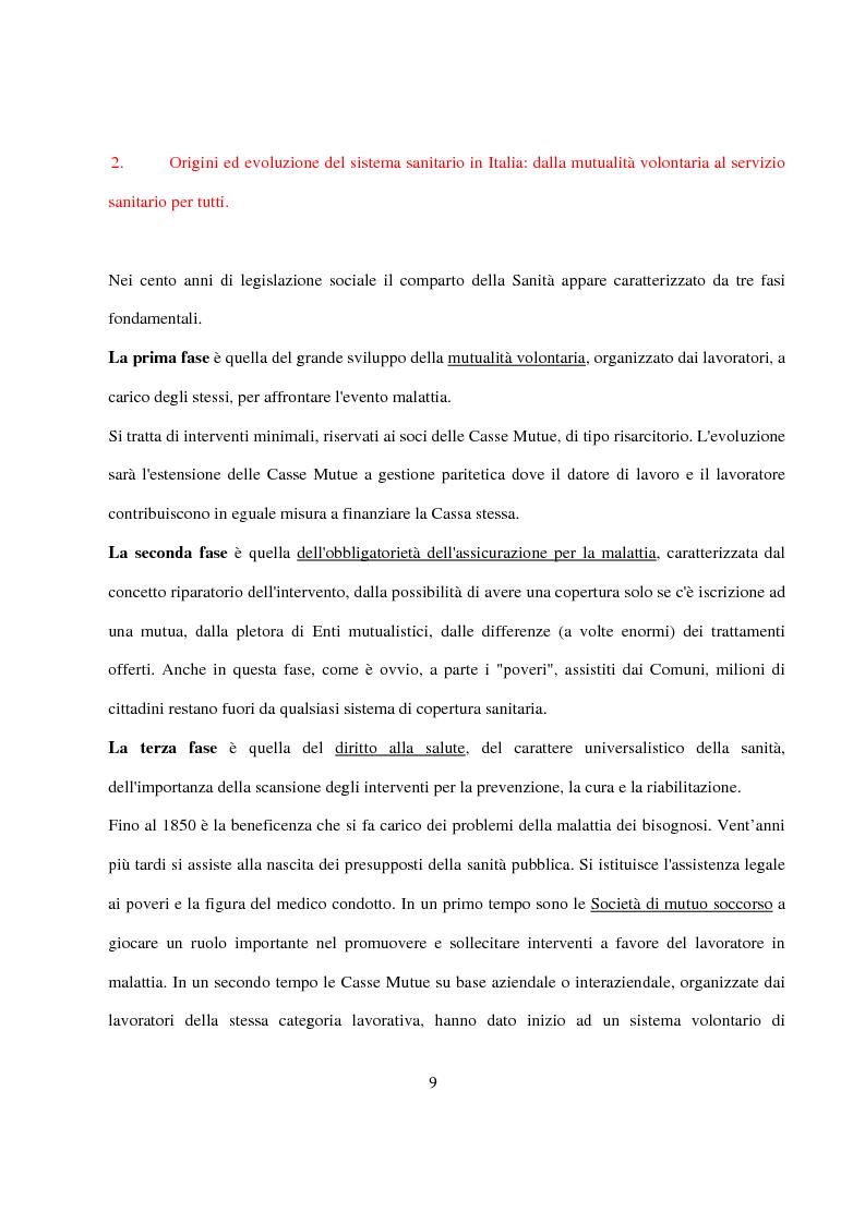 Anteprima della tesi: La Pianificazione Sanitaria in Emilia Romagna: I Piani per la salute e la priorità della sicurezza stradale, Pagina 6
