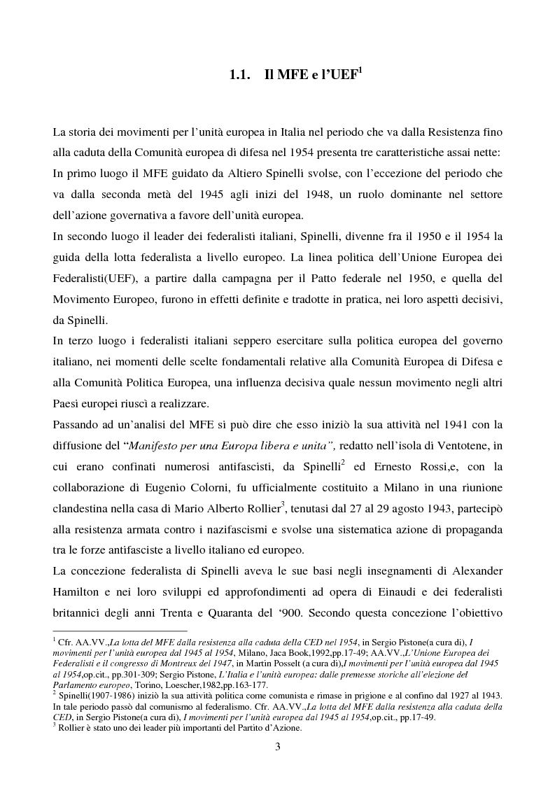 Anteprima della tesi: Il congresso del Popolo Europeo sulle pagine di Europa Federata, Pagina 3