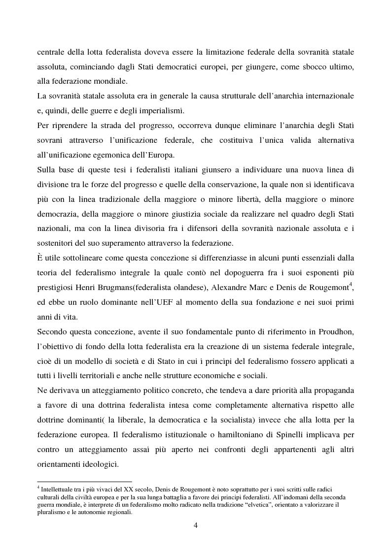 Anteprima della tesi: Il congresso del Popolo Europeo sulle pagine di Europa Federata, Pagina 4