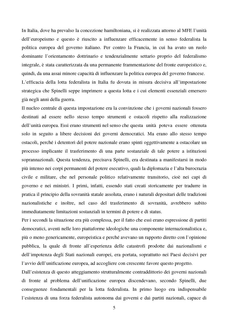 Anteprima della tesi: Il congresso del Popolo Europeo sulle pagine di Europa Federata, Pagina 5