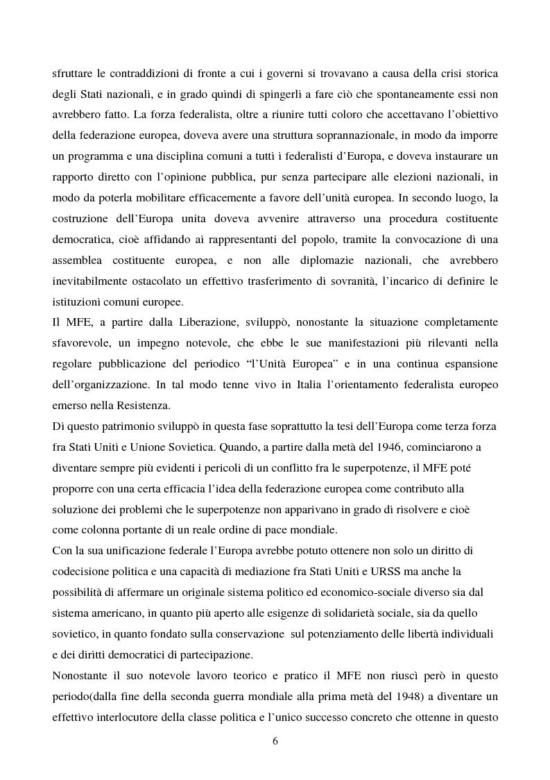 Anteprima della tesi: Il congresso del Popolo Europeo sulle pagine di Europa Federata, Pagina 6