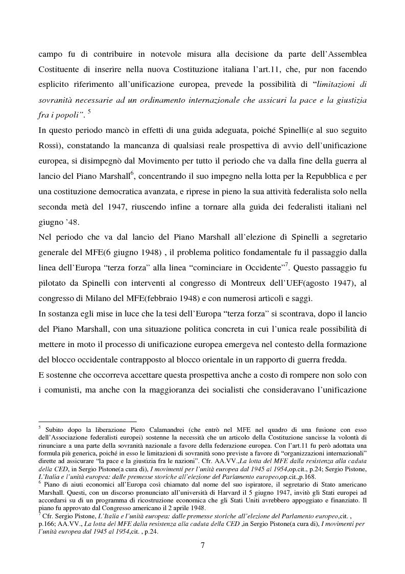 Anteprima della tesi: Il congresso del Popolo Europeo sulle pagine di Europa Federata, Pagina 7