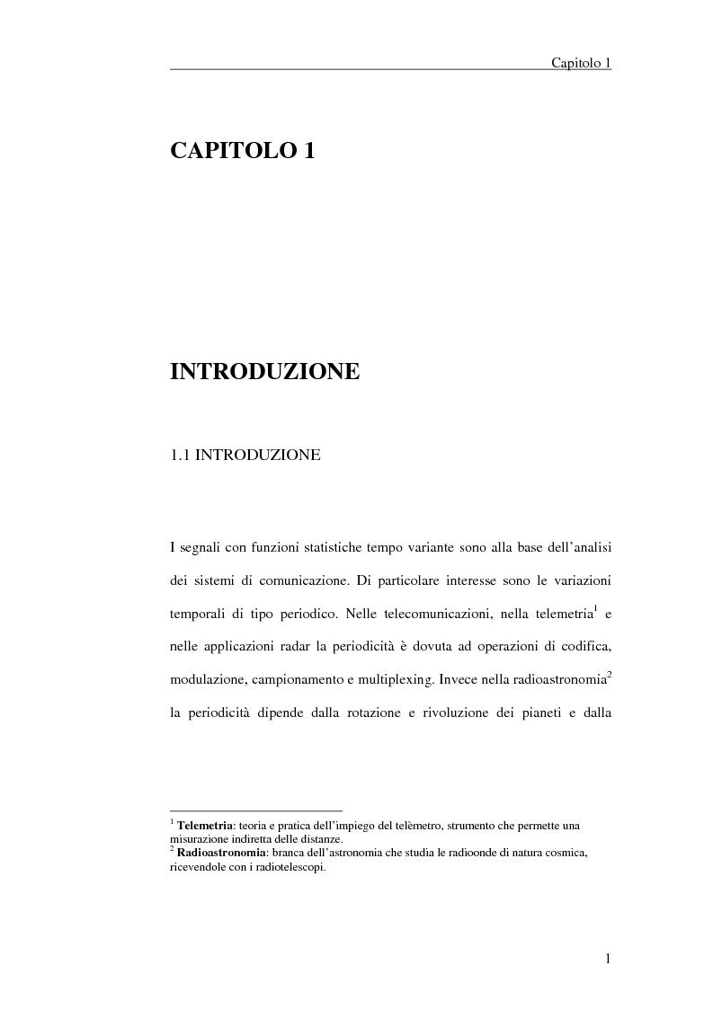 Anteprima della tesi: Filtraggio lineare di segnali ciclostazionari, Pagina 1