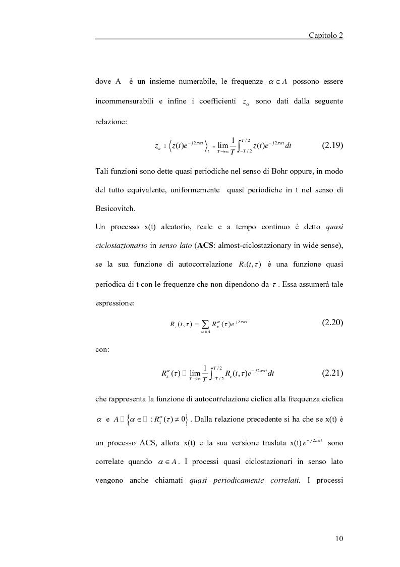 Anteprima della tesi: Filtraggio lineare di segnali ciclostazionari, Pagina 10