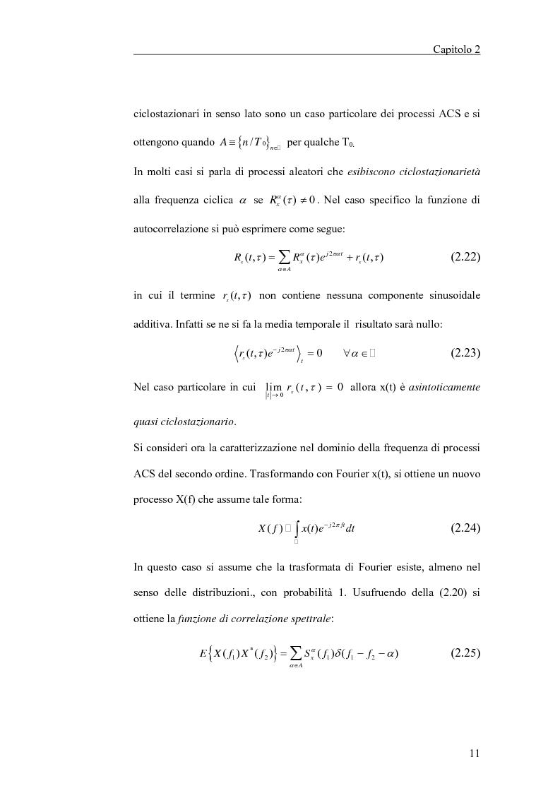 Anteprima della tesi: Filtraggio lineare di segnali ciclostazionari, Pagina 11