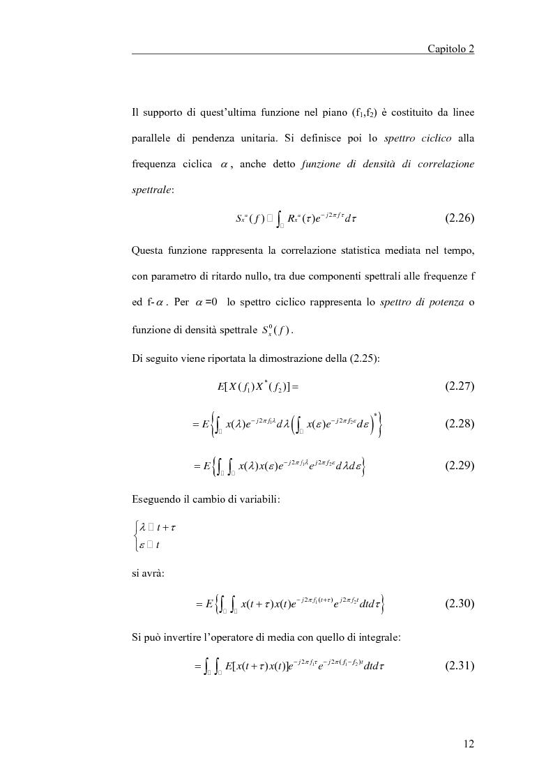 Anteprima della tesi: Filtraggio lineare di segnali ciclostazionari, Pagina 12