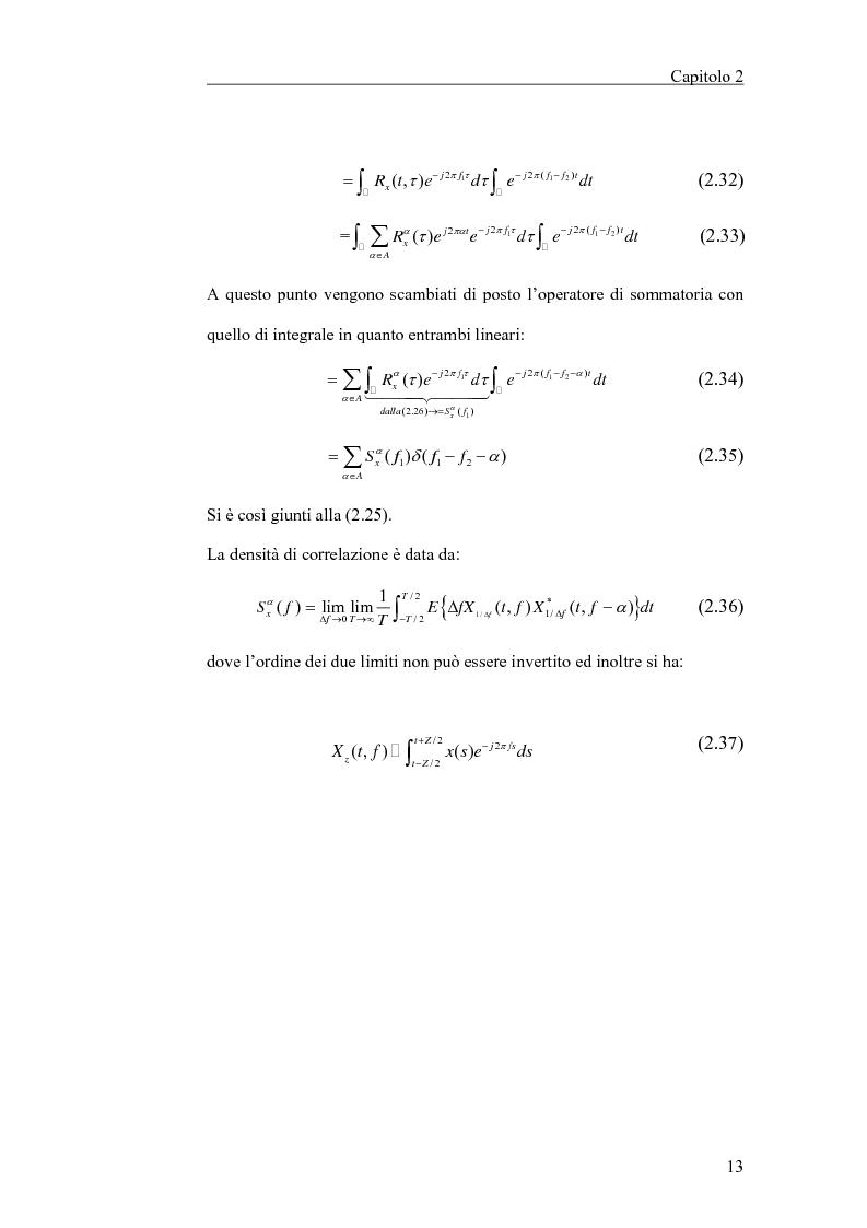 Anteprima della tesi: Filtraggio lineare di segnali ciclostazionari, Pagina 13