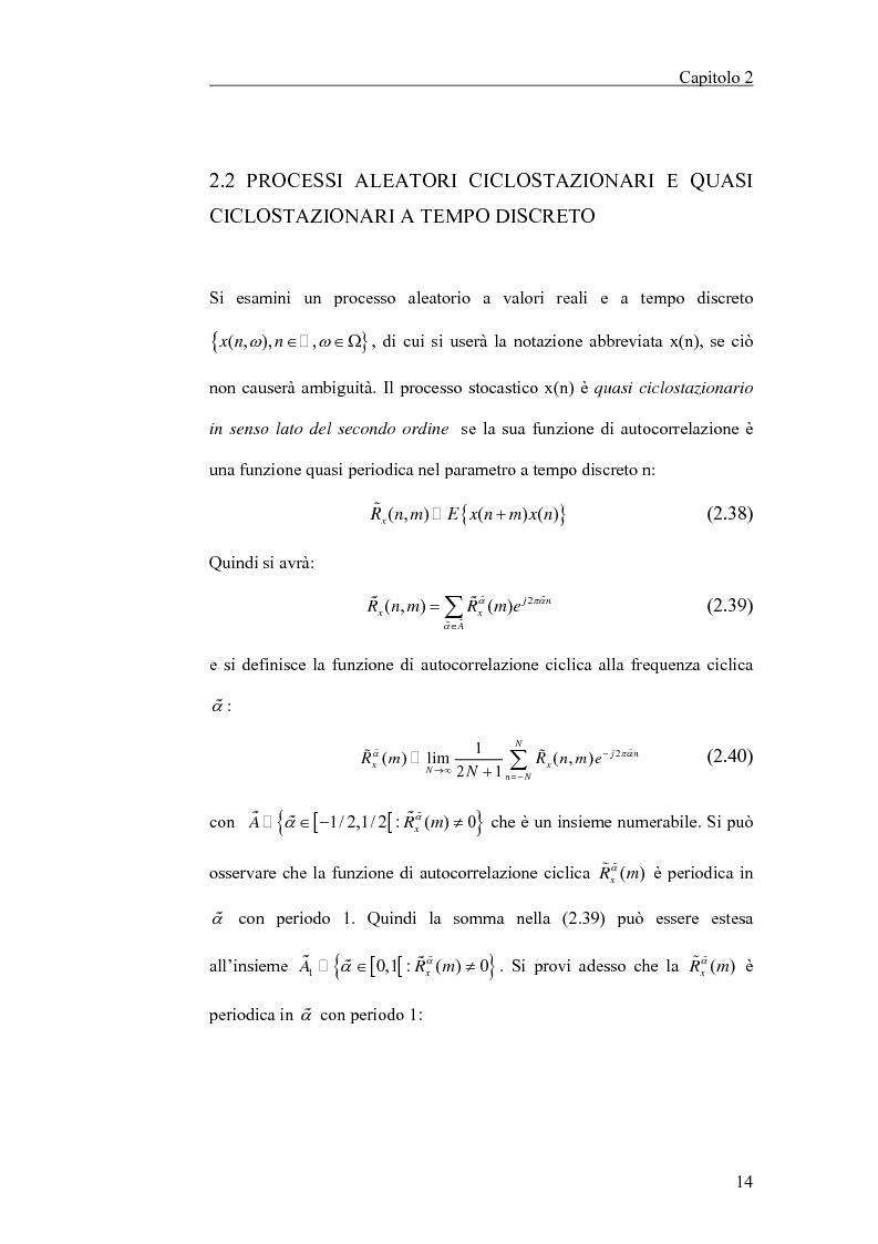 Anteprima della tesi: Filtraggio lineare di segnali ciclostazionari, Pagina 14