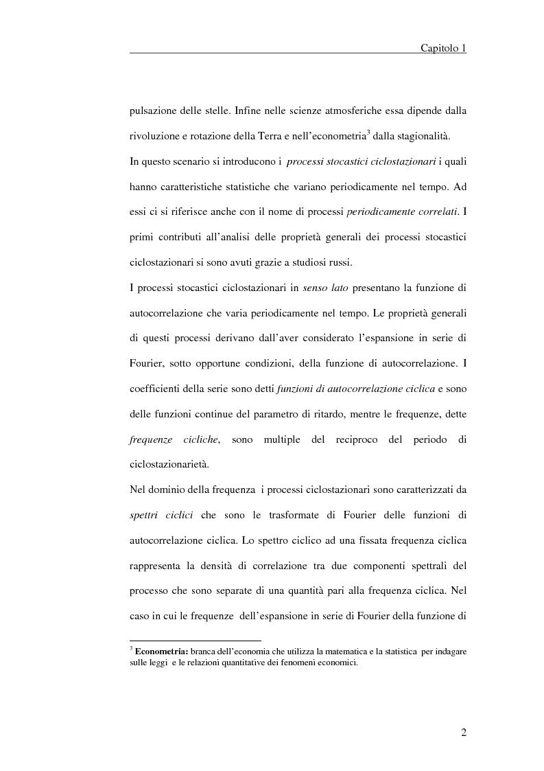 Anteprima della tesi: Filtraggio lineare di segnali ciclostazionari, Pagina 2