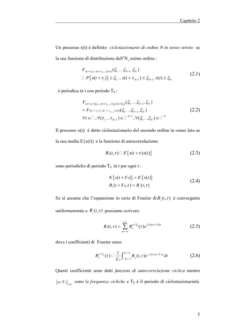 Anteprima della tesi: Filtraggio lineare di segnali ciclostazionari, Pagina 5