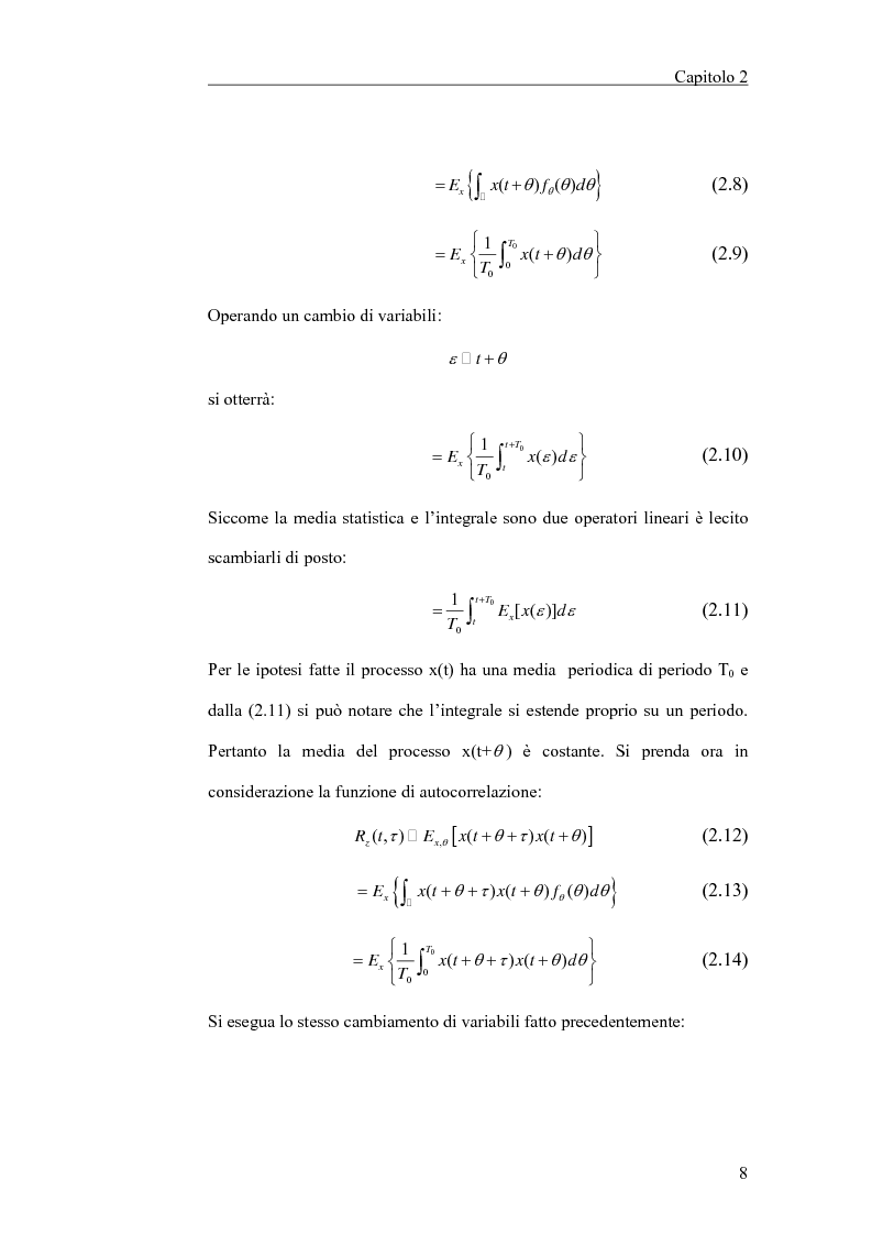 Anteprima della tesi: Filtraggio lineare di segnali ciclostazionari, Pagina 8