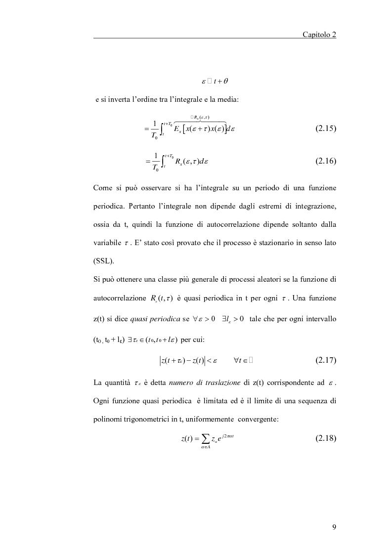 Anteprima della tesi: Filtraggio lineare di segnali ciclostazionari, Pagina 9