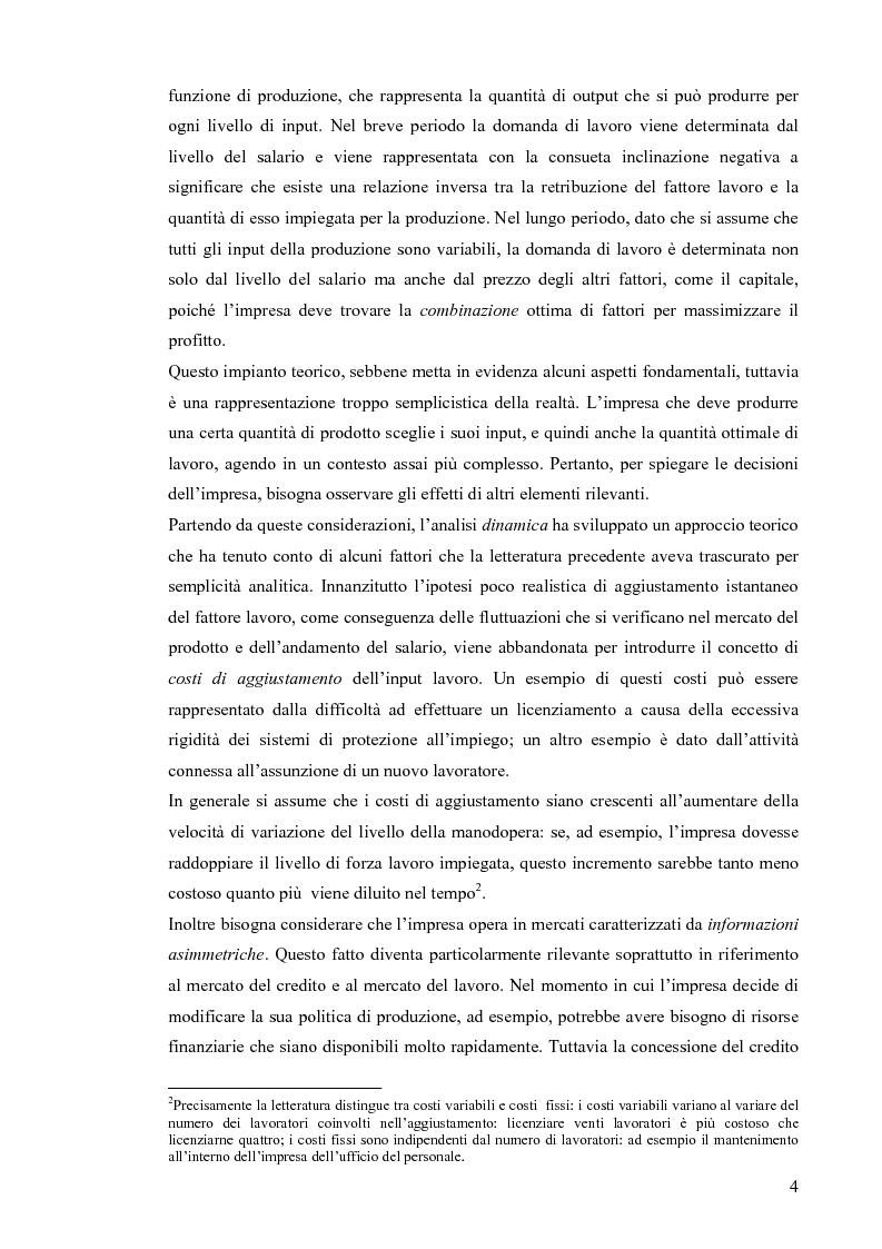 Anteprima della tesi: Vincoli di liquidità, investimenti e domanda di lavoro, Pagina 3