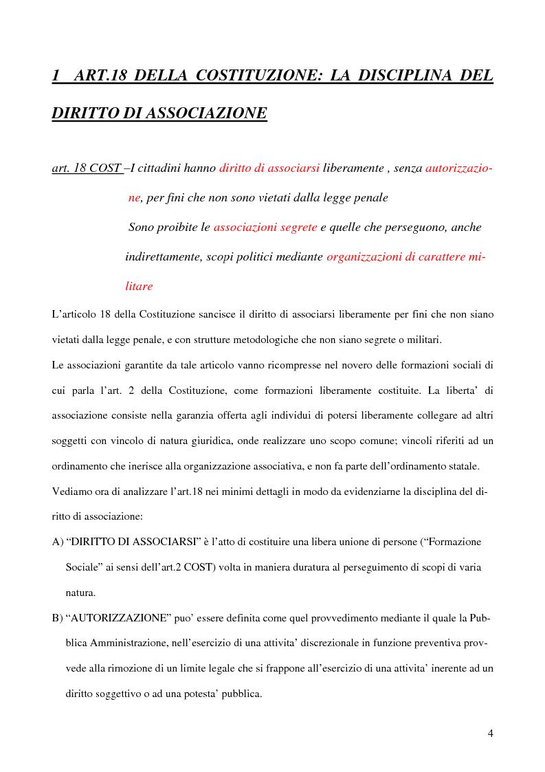 Anteprima della tesi: Associazioni segrete: lineamenti penali (Loggia P2 - Golpe Borghese - Gladio - Archivio Mitrokhin), Pagina 2