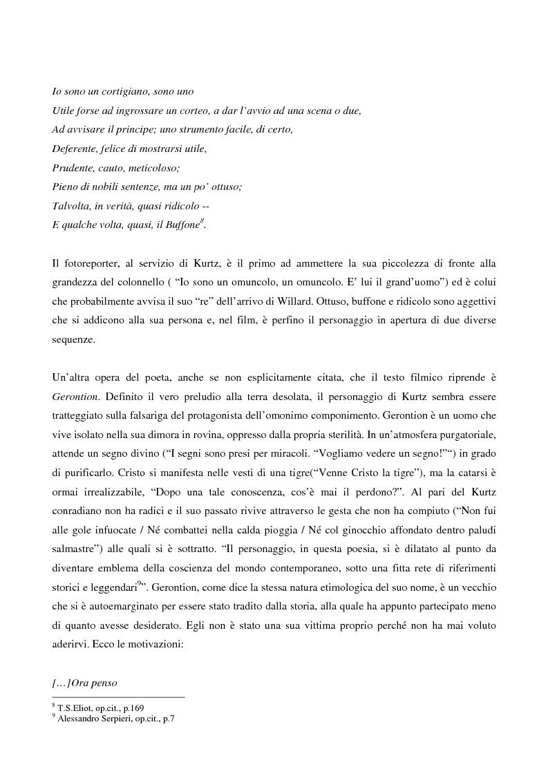 Anteprima della tesi: This is the end... Analisi testuale di Apocalypse Now di F.F.Coppola, Pagina 5