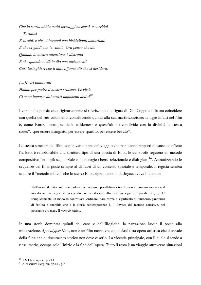 Anteprima della tesi: This is the end... Analisi testuale di Apocalypse Now di F.F.Coppola, Pagina 6