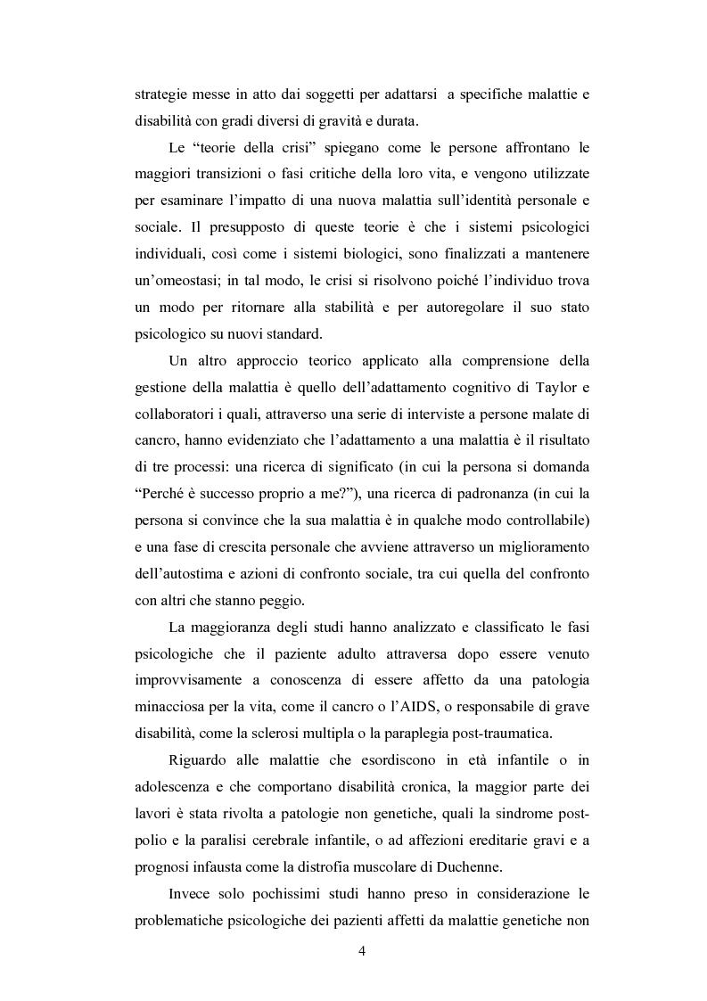 Anteprima della tesi: Lo stress nelle persone disabili affette da neuropatia genetica progressiva: il caso della Charcot-Marie-Tooth, Pagina 2