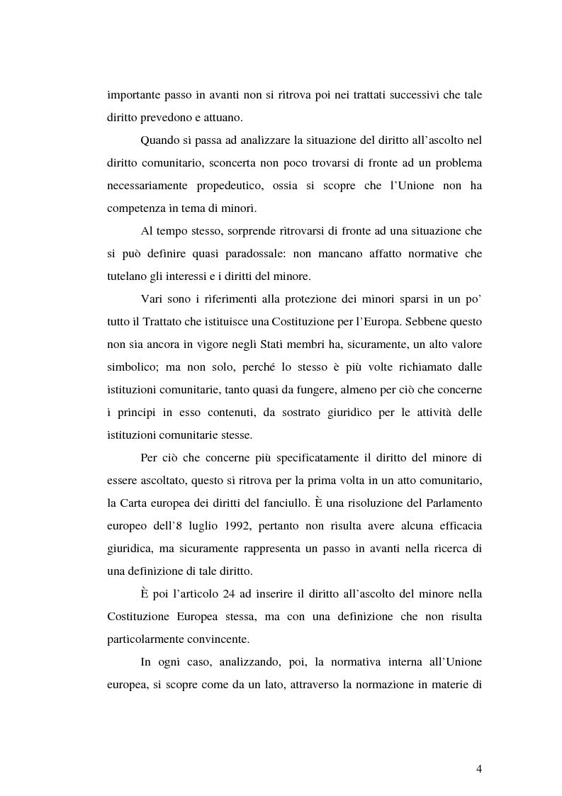 Anteprima della tesi: Il diritto all'ascolto del minore in Unione Europea, Pagina 2