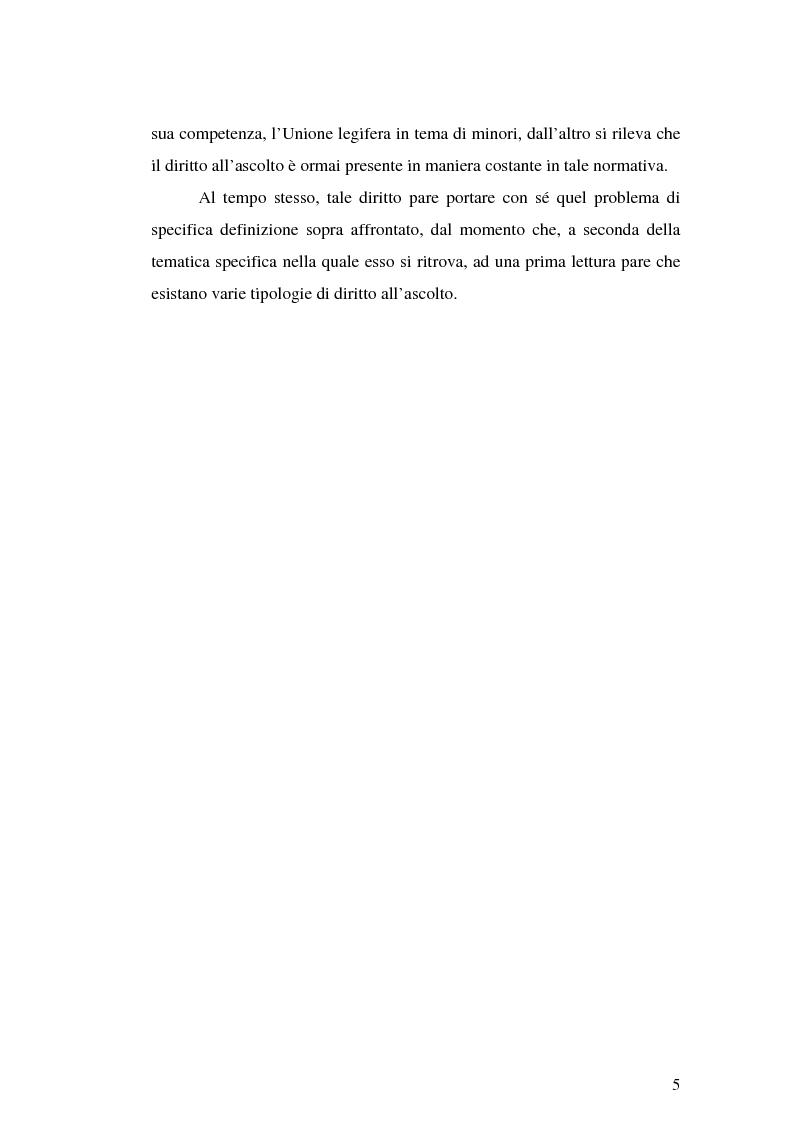 Anteprima della tesi: Il diritto all'ascolto del minore in Unione Europea, Pagina 3
