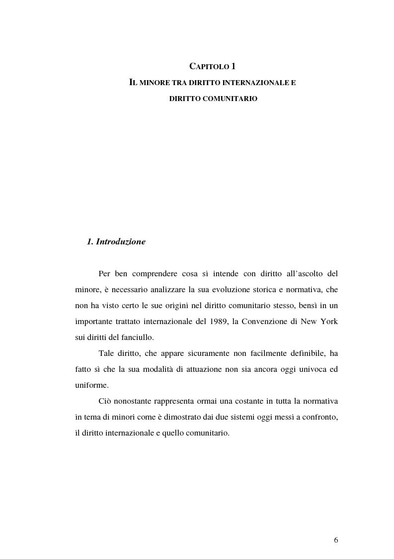 Anteprima della tesi: Il diritto all'ascolto del minore in Unione Europea, Pagina 4