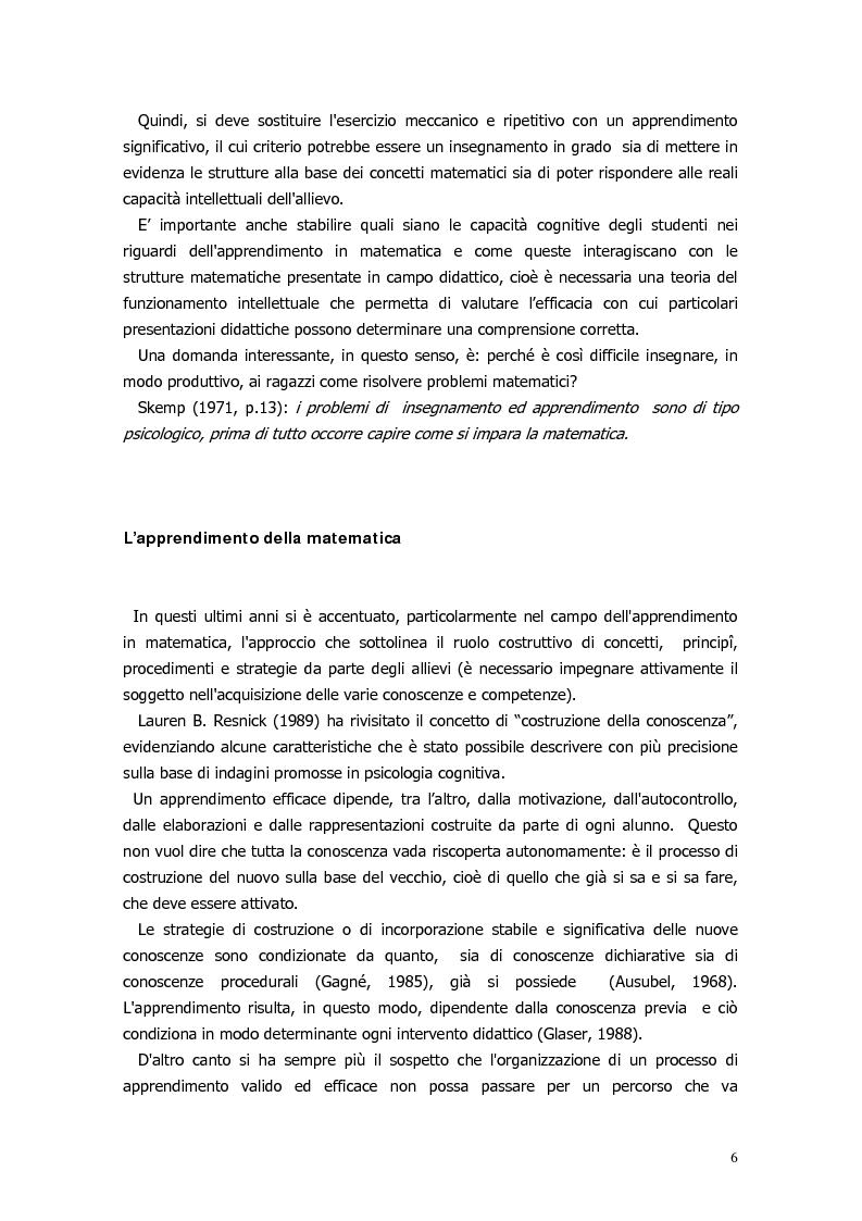 Anteprima della tesi: Il ragionamento matematico nei problemi impossibili, Pagina 5